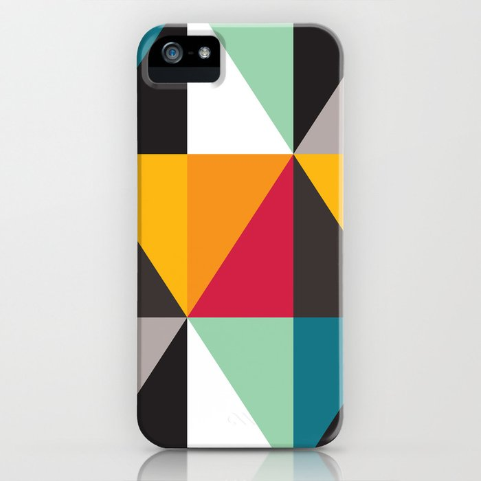 Geometric Pattern 30 (triangles) iPhone Case