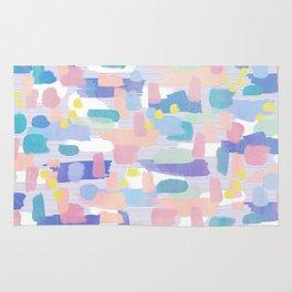 watercolor pattern Rug