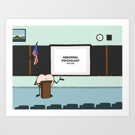 """Butts in Real Life - """"Lecture"""" Art Print"""