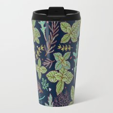 dark herbs pattern Travel Mug