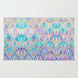 Glamorous Twenties Art Deco Pastel Pattern Rug