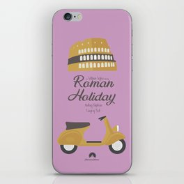 Roman Holiday, Audrey Hepburn,movie poster, Gregory Peck, William Wyler, romantic hollywood film iPhone Skin