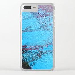 MEMORY MOSH - Glitch Art Print Clear iPhone Case