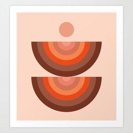 Abstraction_SUN_Rainbow_Minimalism_001 Art Print