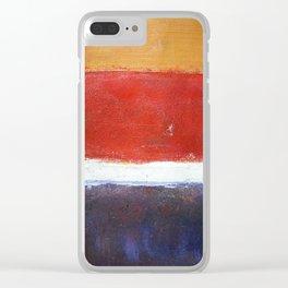 Mark Rothko Interpretation Acrylics On Paper Clear iPhone Case