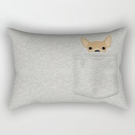 Pocket Chihuahua - Tan Rectangular Pillow