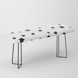 Black and White Stars Bench