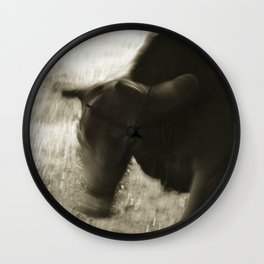 bull shaking head Wall Clock