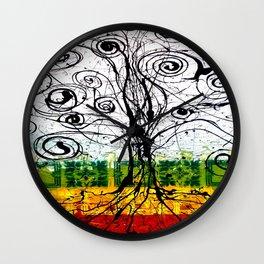 Rasta Tree Wall Clock