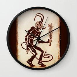 Krampus Is Coming Wall Clock