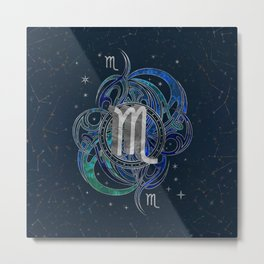 Scorpio Zodiac Sign Water element Metal Print