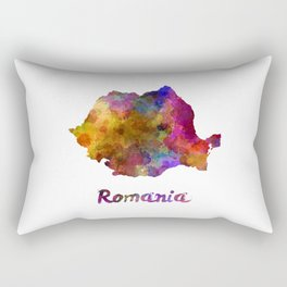 Romania in watercolor Rectangular Pillow