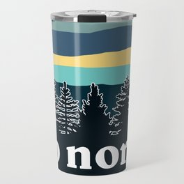 up north, teal & yellow Travel Mug
