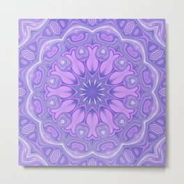 Purple Kaleidoscope Metal Print
