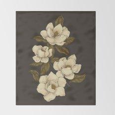 Magnolias Throw Blanket