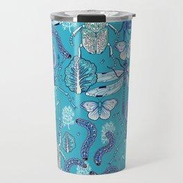 blue bugs Travel Mug