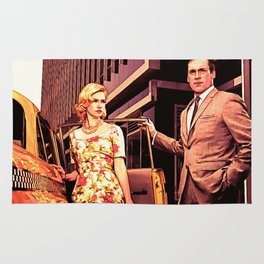 Betty & Don Draper from Mad Men - Painting Style Rug