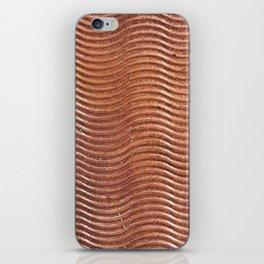 Copper wave iPhone Skin