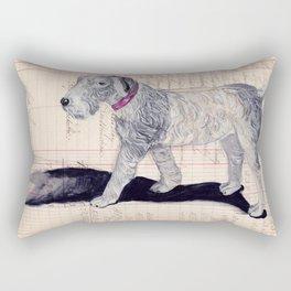 Vintage Celluloid Dog in Gouache Rectangular Pillow