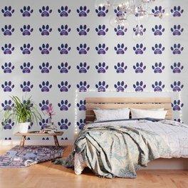 Adopt don't shop galaxy paw - purple Wallpaper