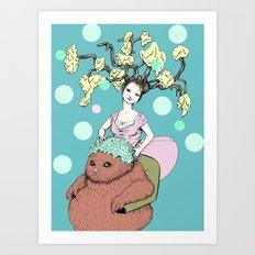 Purr Hairdresser Art Print