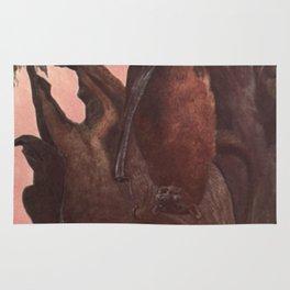 Vintage Bat Painting (1909) Rug