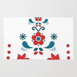 Retro Nordic Folk Rug