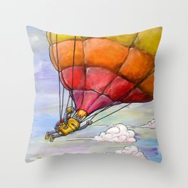 Just Us Clouds Here Throw Pillow