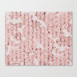 Striped succulenta Canvas Print
