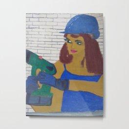 Handwerker Frau Metal Print