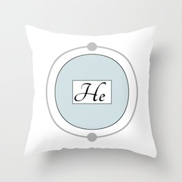Helium - Bohr Model Throw Pillow