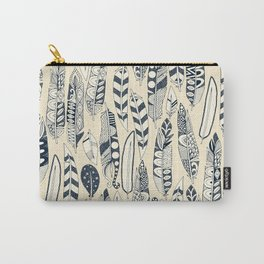 joyful feathers cream Carry-All Pouch