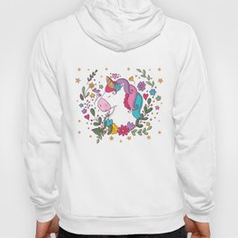 Unicorn and flowers Hoody