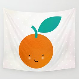 Miss Cheeky Orange Wall Tapestry