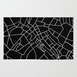 London Road Blocks Black Rug