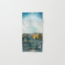 Lapis - Contemporary Abstract Textured Floral Hand & Bath Towel