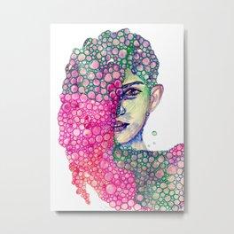 Living in Bubble Metal Print