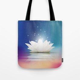 Elegant Gentle  White  Lotus / Lily flower Tote Bag