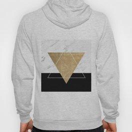 Golden marble deco geometric Hoody