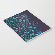 Blue Leaves Mandala Notebook