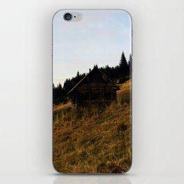 Cosy carpathian cabin iPhone Skin