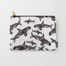 Watercolor Orca's Carry-All Pouch