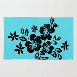 Lilikoi Hibiscus Hawaiian Hula Pareau Design Rug