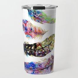 Psychedelic Feathers Travel Mug