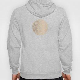 Gold Mandala Pattern Illustration With White Shimmer Hoody