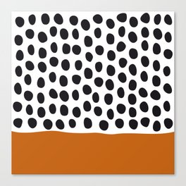 Classy Handpainted Polka Dots with Autumn Maple Canvas Print