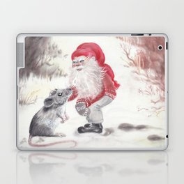 Gnome and mouse Laptop & iPad Skin