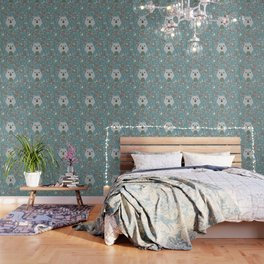 Winter pattern with baby bear Wallpaper