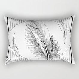 Seagulls with feathers - Ink artwork Rectangular Pillow
