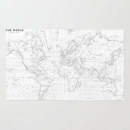 Vertical Worldmap. Nordic style Rug